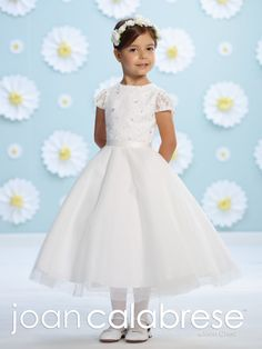 5e56480a95 Discover the Joan Calabrese for Mon Cheri 116396 Flower Girl Dress. Find  exceptional Joan Calabrese for Mon Cheri Flower Girl Dresses at The Wedding  Shoppe
