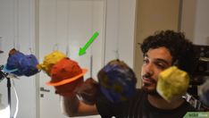 How to Make Papier Mâché Planets. Arts and crafts projects can be a great way to educate children. Planets and the solar system are fascinating, but a topic so vast can quickly become overwhelming for a young learner. Using papier-mâché to . Arts And Crafts Projects, Hobbies And Crafts, Crafts For Kids, Projects To Try, Planet Crafts, You Are The Sun, Cut Out Shapes, Art N Craft, Space Theme