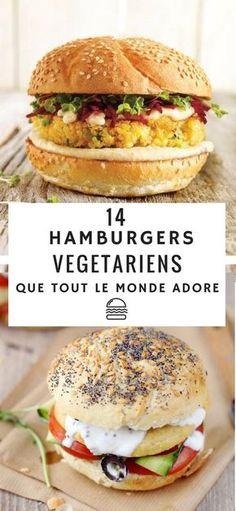 Découvrez ces 14 recettes de burgers végétariens qui vont plaire à toute la famille ! A base de quinoa, de champignon ou de betterave, ces hamburgers végétales sont des alternatives parfaite à la recette classique ! #recette #burger #hamburger #veggie #vegetarien #astuces