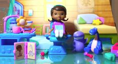 I'm unboxing one of my favorite toys, Doc McStuffins Dentist Play Set. I love Doc McStuffin! I want to be a doctor like her.