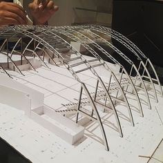 (notitle) – Camille Garcia – Join in the world of pin Stadium Architecture, Roof Architecture, Concept Architecture, Architecture Details, Architecture Colleges, Truss Structure, Steel Structure Buildings, Structural Model, Roof Truss Design