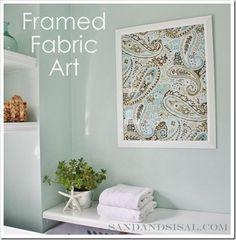 DIY Home Decor : DIY Framed Fabric Art