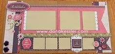 double page scrapbook layouts | Two page scrapbook layout Ivy Lane Cricut Artiste Girl Valentines Day ...