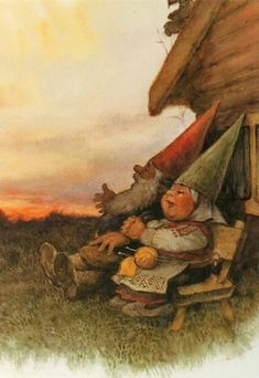 Cute Gnome PostCard Rien Poortvliet David & by CuteEyeCatchers