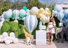 Planning a Baby Shower? 3 Tips For Throwing a Wonderful Baby Shower A grand hot air balloon theme fo Baby Shower Decorations For Boys, Baby Shower Themes, Baby Boy Shower, Shower Ideas, Shower Party, Baby Shower Parties, Baby Showers, Pastel Balloons, Baby Shower Balloons