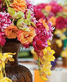 Dana's Floral Design   Jerrod Brown Studios   Tropical Wedding Centerpiece
