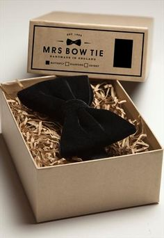 Branded box for Mrs Bow Tie's handmade ties.    Handmade Saskatchewan is a member based community uniting local crafters/artisans and their customers. www.handmadesask.com