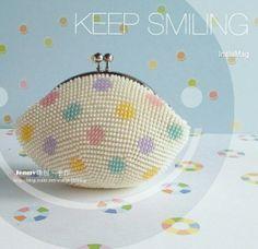 Crochet Bead frame purse