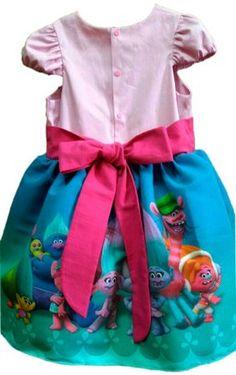d15e352d33 Vestido Trolls Roupa Infantil Lindo Para Festa Tam 01 Ao 10 - Tia Gina Vestidos  Infantis