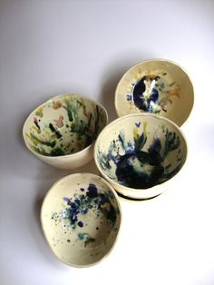 Ceramics - glaze splatters in bowl?
