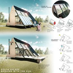 59 Ideas house plans a frame layout 59 Ideas house plans a frame layout A Frame Cabin, A Frame House, Earthship, Two Story Fireplace, Triangle House, Frame Layout, Eco Buildings, Home Greenhouse, Compact House
