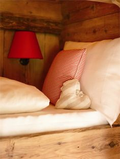 love the heart pillow and linens. use to sleep on a bed like this at the cabin