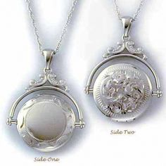 what a cool idea,  I love lockets and this one really takes the cake! -Elizabeth Sterling Silver Victorian Locket