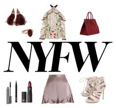 """""""NYFW"""" by emmyleo ❤ liked on Polyvore featuring Zimmermann, Alexis, Carvela, MAC Cosmetics, NARS Cosmetics, Lipstick Queen, Louis Vuitton, Dorothy Perkins and Mansur Gavriel"""
