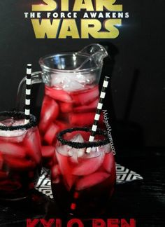 Star Wars Party Ideas - This Kylo Ren Party Drink is the perfect drink for a Star Wars Party. This recipe is non alcholocic so can be made for a childrens party. You could also make it for an adults party and put some alcohol in if you wish.