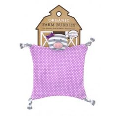 Part of the Organic Farm Buddies by Apple Park, penny the pig blankie is hypo allergenic and is suitable from birth Newborn Baby Gifts, New Baby Gifts, Baby Comforter, Security Blanket, Organic Farming, Toys Shop, Organic Baby, Kids Toys, Children's Toys