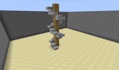 Spiral staircase that looks awesome and will work with any other slab! Also instead of using full blocks you could use slabs, too.
