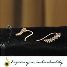 www.jawaherexpress.com 18k Gold Plated Austrian Crystal Earrings