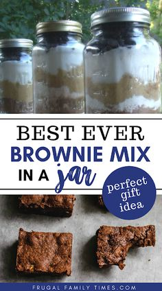 A moist and delicious brownie recipe - made better in a jar for gift giving. This gift in a jar makes for a thoughtful and appreciated gift for teachers coaches volunteers and friends! Decor Style Home Decor Style Decor Tips Maintenance home Easy Desserts, Delicious Desserts, Dessert Recipes, Jar Recipes, Family Recipes, Dessert Ideas, Free Recipes, Yummy Food, Dry Rubs