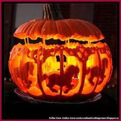 Dollar Store Crafter: Carousel Jack-O-Lantern Pumpkin