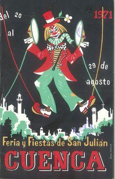 """San Julián 1971 Programa de las Fiestas de San Julián 1971, del 20 al 29 de agosto Dentro de la programación de los Festivales de España  se representa en el Parque San Julián el espectáculo """"Antología de la Zarzuela"""""""