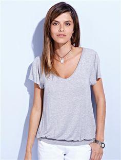 49e8729ddefd1 Maternity & Nursing Adaptable Double Panel T-shirt Grey marl+Lilac+Black