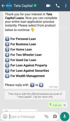 How To Apply Tata Capital Personal Loan Through Whatsapp Personal Loans Tata Loan