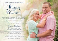 Megan and Branson Front Simple Wedding Invitations, Wedding Invitation Design, Pleasant View, Just Kidding, Beautiful Smile, Future Husband, Save The Date, Announcement, Utah