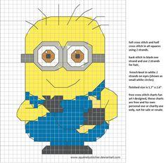 free cross stitch chart minion banana by squirrelystitcher