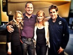 Elisabeth Harnois, George Eads, Marg Helgenberger, and Eric Szmanda (Morgan, Nick, Catherine, and Greg)