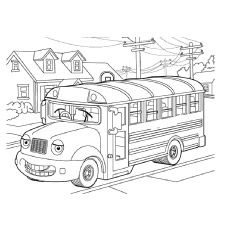Back to School Kindergarten Vehicles Worksheets: School