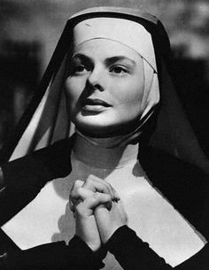 In The Bells of St. Mary's, Ingrid Bergman and Bing Crosby play a nun and a priest brought together to try and save a school from being closed.