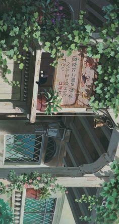 Aesthetic Backgrounds, Aesthetic Iphone Wallpaper, Aesthetic Wallpapers, Aesthetic Art, Aesthetic Anime, Aesthetic Pictures, Studio Ghibli Art, Studio Ghibli Movies, Anime Scenery Wallpaper