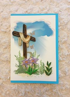 Quilling galore! Celebrate the resurrection of Christ by sharing this beautiful card with friends and family. Card is blank inside so you can write your own