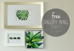 Looking for affordable art to frame?! We're sharing 3 FREE Gallery Wall prints along with an idea to help you create even more affordable art in your home.