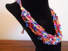 Trellis Necklace / Crochet Necklace Item by CreationsbyJoyceAnn