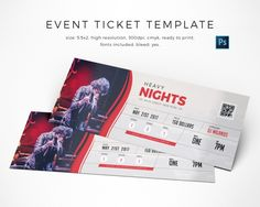 Event ticket template.