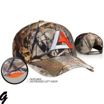 Graham Sporting Goods Distressed Camo Adjustable Hat by Pacific Headwear Style Number 696C