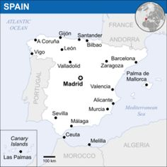 Spain (Listeni/ˈspeɪn/; Spanish: España [esˈpaɲa] officially the Kingdom of Spain (Spanish: Reino de España),[a][b] is a sovereign state located on the Iberian Peninsula in southwestern Europe, with two large archipelagos, the Balearic Islands in the Mediterranean Sea and the Canary Islands off the North African Atlantic coast, two cities Ceuta and Melilla in the North African mainland and several small islands in the Alboran Sea near the Moroccan coast.
