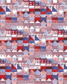 Storytelling with Forms and Patterns: Prints and Textiles by Hannah Waldron – SOCKS Textures Patterns, Print Patterns, Drawing Techniques, Drawing Tips, Roof Detail, Graphic Design Pattern, Drawing For Beginners, Interesting Buildings, Architecture Drawings