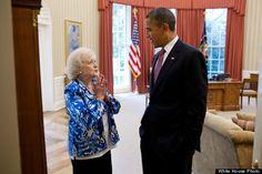betty white and barack obama (photo by pete souza)
