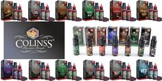 """COLINSS """"PREMIUMS BRANDS"""" www.elmundodelvapeo.com  Aromas que imitan a las mas conocidas marcas de tabaco,como Camel y Malboro; además de algunos aromas frutales. Pruebalos a que esperas!!"""