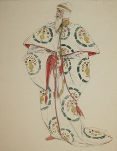 Costume design for the Doge in Shakespeare's 'The Merchant of Venice' by Charles de Sousy Ricketts (1866 - 1931)