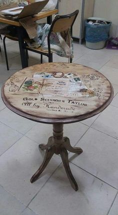 Shabby Chic Furniture Stencil New Ideas Decoupage Furniture, Diy Pallet Furniture, Refurbished Furniture, Paint Furniture, Repurposed Furniture, Furniture Projects, Furniture Makeover, Trendy Furniture, Shabby Chic Furniture