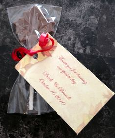 Chocolate Fall Wedding Favours