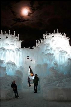 Silverthorne Ice Castles!  Man made Ice Castles in Silverthorne CO.