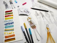 How to Sketch Fashion Designs with Rain Blanken, DIY Fashion Expert.