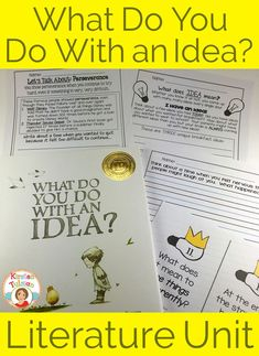 What Do You Do With an Idea by Kobi Yamada is a new, Independent Publisher's Book Award winning picture book. This literature unit is appropriate for 1st-4th grade. Students will find fun, engaging activities that make them think outside the box.