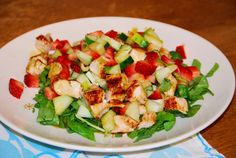 Summer Strawberry Spinach Salad at Surviving the Food Allergy Apocalypse