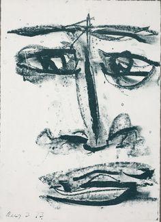 "Sam Francis, 'Self-portrait from ""Anima Portraits"" series', 1973, Dallas Museum of Art | Artsy"